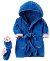 Carter's 2-Pc. Cotton Hooded Shark Robe & Booties Set, Baby Boys (0-24 months)