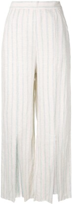 Venroy Striped Split Wide Leg Trousers