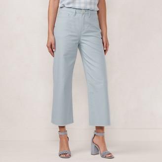 Lauren Conrad Women's High Rise Wide Leg Capri Pants