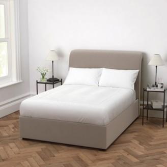 The White Company Thurloe Velvet Bed, Stone Velvet, Double