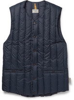 Rocky Mountain Featherbed Six Month Quilted Nylon Down Gilet - Navy