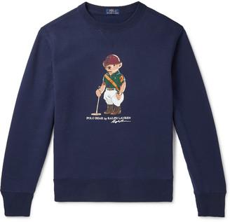 Polo Ralph Lauren Logo-Print Fleece-Back Cotton-Blend Jersey Sweater