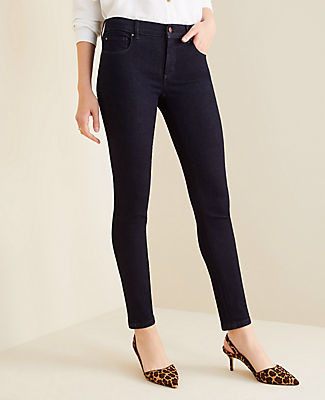 Ann Taylor Curvy Sculpting Pocket Skinny Jeans in Classic Rinse Wash