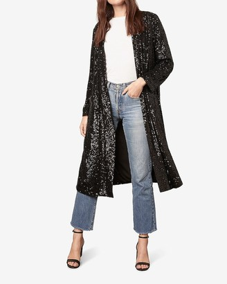 Express Bb Dakota Sequin Duster Jacket