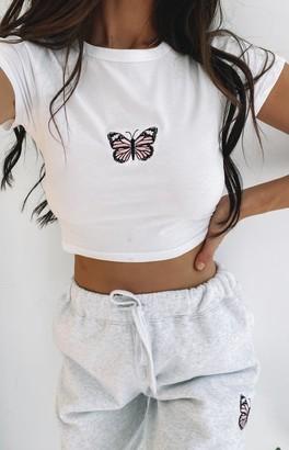 Bbx Sugar Baby Butterfly Crop Tee White