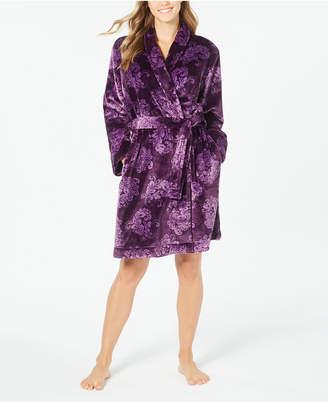 Charter Club Super Soft Printed Short Wrap Robe