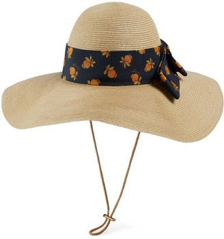Gucci Straw effect wide brim hat