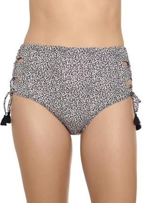 Time and Tru Women's Reversible Hear Me Roar Highwaist Swimsuit Bottom