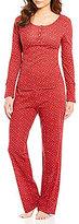 Lucky Brand Ditsy Boyfriend Pajamas