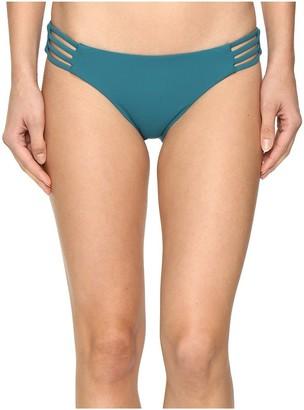 Red Carter Women's Splice & Dice Side-Strap Classic Hipster Bikini Bottom