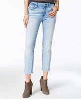 7 For All Mankind Frayed-Hem Straight-Leg Jeans