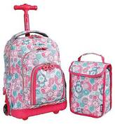 "J World J-World 16"" Lollipop Rolling Backpack with Lunch Kit - Pink/Blue"