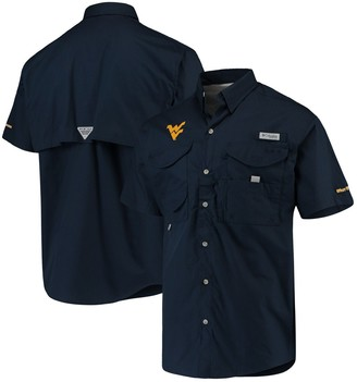 Men's Columbia Navy West Virginia Mountaineers Bonehead Shirt