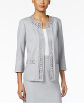 Alfred Dunner Petite Rose Hill Laser-Cut Jacket