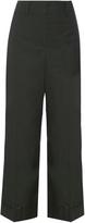 Valentino Wide-leg cotton trousers