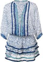Poupette St Barth printed ruffle dress