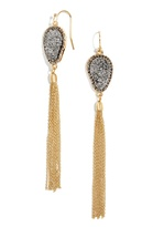 BaubleBar Starfire Druzy Tassel Earrings