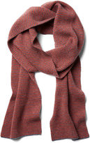 Portolano Men's Striped Scarf, Rust