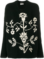 Hache floral crew neck sweater
