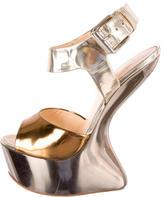 Giuseppe Zanotti Leather Heel-Less Wedges