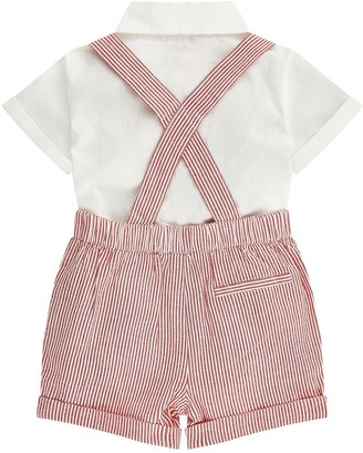 Monsoon Baby Boys Archie Dungaree Set - Red