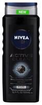Nivea Men Active Clean Body Wash 16.9 oz