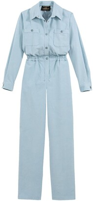 Vanessa Seward X La Redoute Collections Cotton Jumpsuit, Length 32""