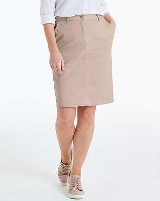 Capsule Petite Comfort Stretch Chino Skirt