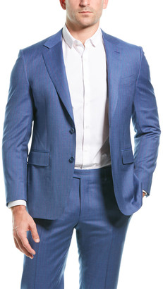 Canali 2Pc Wool Suit With Flat Pant
