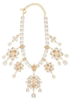 Dolce & Gabbana Crystal-drop Necklace - Womens - Gold