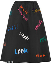 Mira Mikati Printed Cotton-Blend Skirt