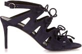 Balenciaga Bouclé-bow suede sandals