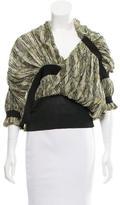 Balenciaga Silk Printed Top