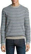 Wesc Alban Striped Sweater, Navy