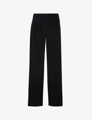Whistles High-rise wide-leg velvet trousers