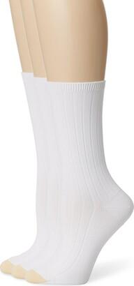 Gold Toe Women's Ultra Soft Verona Crew Sock 3-Pack