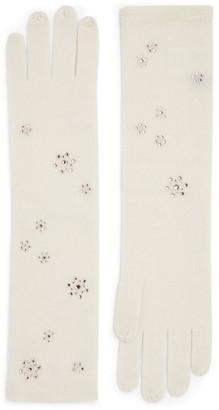 William Sharp Embellished Long Cashmere Gloves