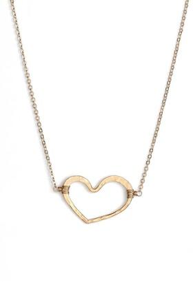 Nashelle Open Heart Pendant Necklace