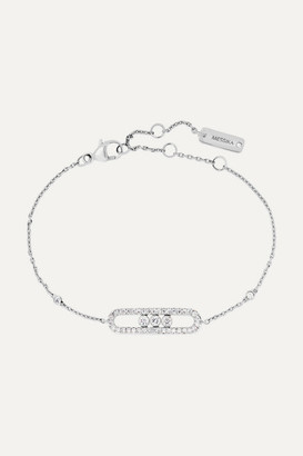 Messika Baby Move 18-karat White Gold Diamond Bracelet