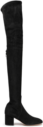 Valentino Stretch-suede Thigh Boots