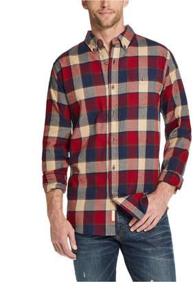 Weatherproof Vintage Men Brushed Antique Flannel Plaid Shirt