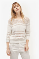 French Connection Romy Knits Crochet Detail Jumper