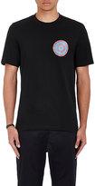 Oamc Men's Quote-Print Cotton T-Shirt-BLACK