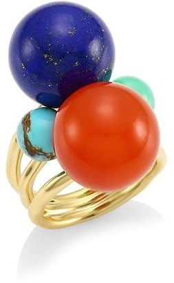Ippolita Nova Large 18K Yellow Gold & Multi-Stone Ring