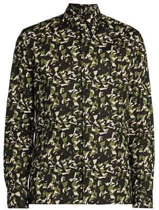 Fendi Big Bugs Cotton Sport Shirt