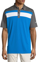 Callaway Colorblock Short-Sleeve Polo Shirt, Magnetic Blue