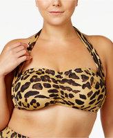 Lauren Ralph Lauren Plus Size Leopard-Print Halter Bikini Top