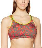 Shock Absorber Women's Active Multi Sports Bra, Multicolore (Imprimé Fleurs Rouges), 40DD