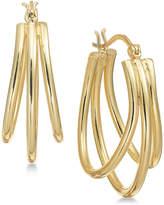 Essentials Essential Silver Plated Triple Oval Hoop Earrings