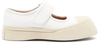 Marni Pablo Chunky-sole Leather Mary-jane Shoes - White